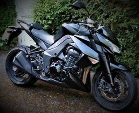Matte black Kawasaki Z1000 in excellent condition