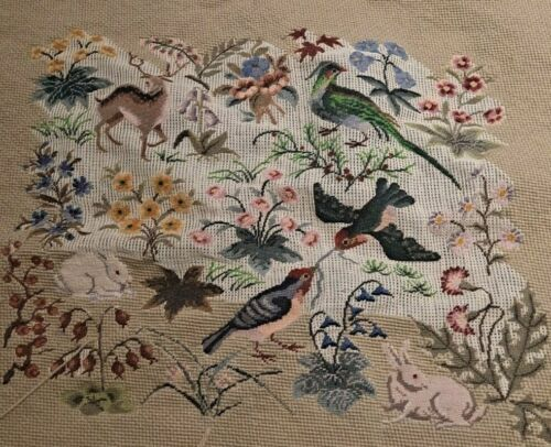 Vintage Tapestry Scene - Unfinished - Very Detailed Excellent Work