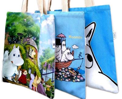 Cartoon Tote Bag (Moomin Valley Moomintroll Cartoon Tote Bag Soft Brushed Canvas Reusable Shopper )