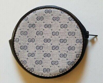 """Vintage Gucci Blue """"GG"""" Supreme Logo Monogram Round Coin Purse/Wallet"""