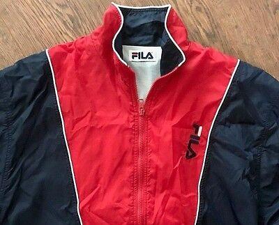 Rare Quality Original Vintage Retro 1990s Fila Old School Sportswear Jacket