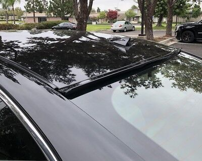 Painted Black For 2008 2009-2012 HONDA ACCORD 2D COUPE-Rear Window Roof (Coupe Rear Window Spoiler)