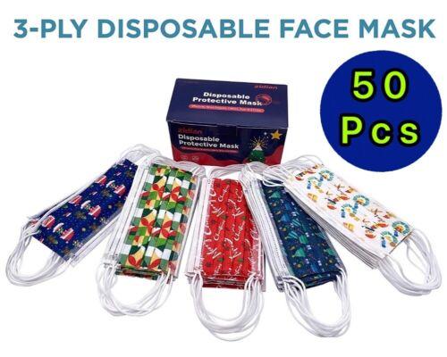 50 Pcs Patterns Face Mask Mouth & Nose Protector Respirator Masks USA seller