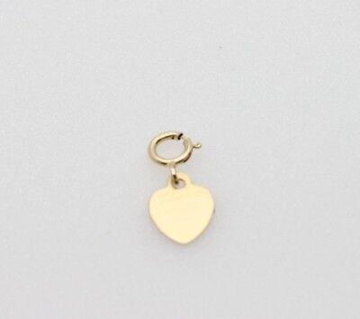 Heart Lock Charm Pendant (14k gold Tiny Heart charm pendant with spring clasp lock )