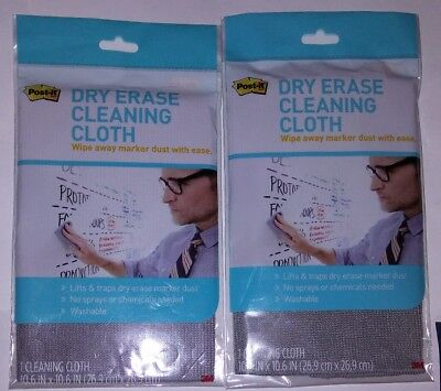 Dry Erase Material (2 x Post-it® Dry Erase Cleaning Cloth, Fabric, 10 5/8