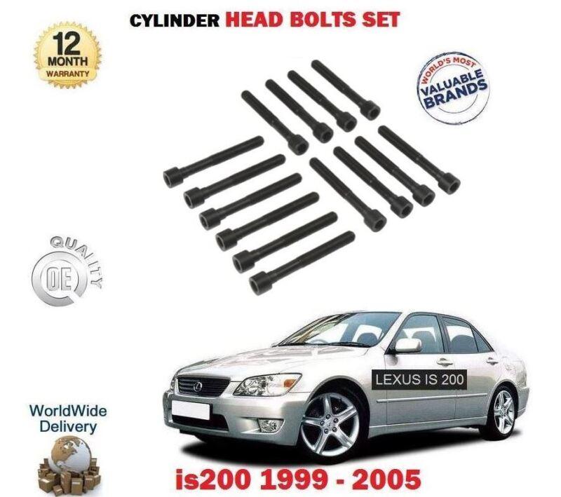 FOR LEXUS IS200 2.0 GXE10 1G-FE 1999-2005 NEW CYLINDER HEAD BOLT SET 14 piece