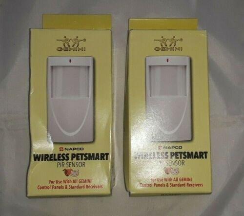 (2) NAPCO GEMINI Wireless Pet Smart PIR SENSORS GEM-PIRPET NEW IN BOX