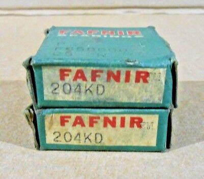 Lot Of 2 Nib Fafnir 204kd Groove Ball Bearing 20mm X 47mm X 14mm Single Shield