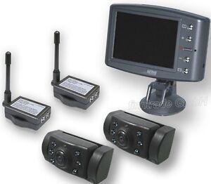 PRO USER RVC3620 Rückfahrkamera EINPARKHILFE 2 Kamera Wohnwagen Gespann Anhänger