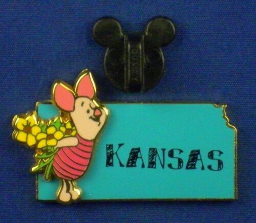Piglet Kansas State Character Pin Flowers Bouquet Pin # 14938