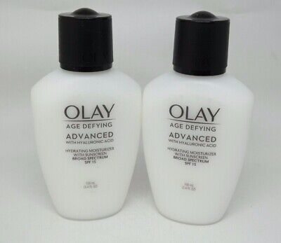 LOT OF 2 ~ Olay Age Defying Anti-Wrinkle Day Lotion Broad Spectrum SPF15 3.4 -