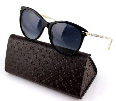 ca904c9d4e4 POLARIZED RARE Genuine GUCCI Crystals Black Gold Sunglasses GG 3771 N S ANW  WJ