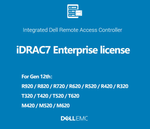 iDRAC7 Enterprise License iDRAC  R720 R620 R520 R420 R320 R220