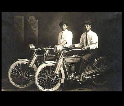 1914 Harley Davidson Founders PHOTO Arthur Davidson +William Harley,Motorcycles