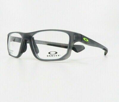 Oakley Men's Crosslink Fit Satin Grey Smoke Glasses w/ Case OX 8136M-02 53mm
