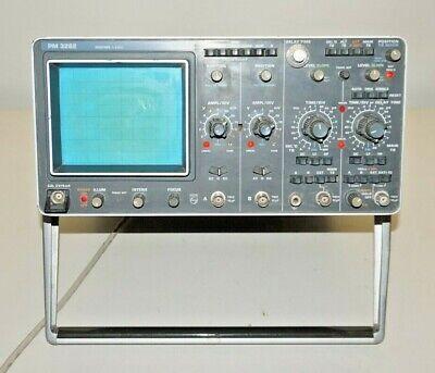 Phillips Oscilloscope Pm3262 Pm3262q 110v 50w 50-400 Hz 60mhz
