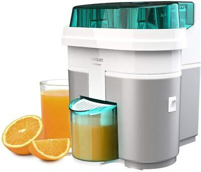Cecotec Exprimidor Naranjas eléctrico EssentialVita Twice White 90W 2 Cabezales