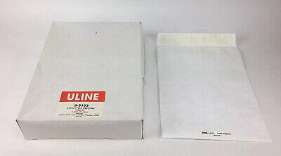 Lot Of 6 Boxes Uline Tyvek Self-seal White Envelopes 100 Pack 10x13 S-5153