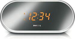 Philips FM Dual-Alarm Clock Radio AJ1000B/37 Mirror-finish SRB