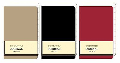 Personal Premium Journals Pack Of 9 Notepads 3.5in X 5.5in - Solid Color...