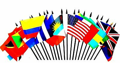 CARIBBEAN ISLANDS WORLD FLAG SET--20 Polyester 4