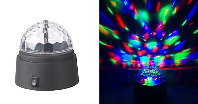 Unido Battery-Operated Rotating Crystal Ball LED Disco Dome 3.5