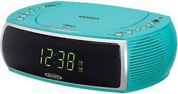 New Jensen Stereo CD Player Digital AM/FM Radio Dual Alarm Clock AUX USB Charger