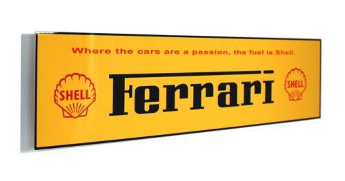 Ferrari Shell Passion Metal Banner Sign
