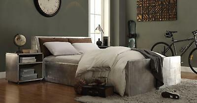 Leather Bed Set - Acme Furniture Brancaster Leather Queen Bed Set