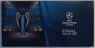 Ticket Mappe Champions League Finale Mailand 2016 [Real - Atletico] Ronaldo