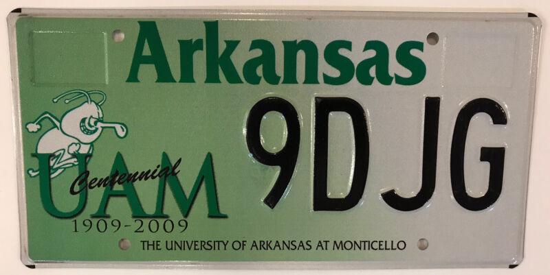 AR UNIVERSITY ARKANSAS MONTICELLO license plate Boll Weevils Cotton Blossoms UAM
