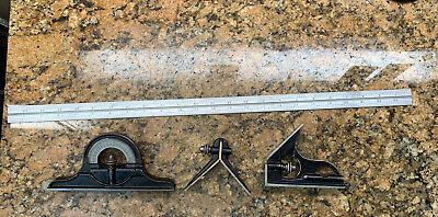 Starrett Combo Square Protractor Center Head 24 Blade 16rgrad H223