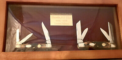 Canal Street Cutlery Co Red Stag Congress And Whitler Knife Mint In Display Case