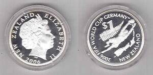NEW-ZEALAND-SILVER-PROOF-1-COIN-2006-Y-KM-158-FIFA-FOOTBALL-WORLD-CUP-GERMANY