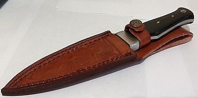 BLACK HORN DAGGER HUNTING BOWIE KNIFE W/ SHEATH CASE BOOT KNIFE UNBRANDED ! Black Horn Dagger