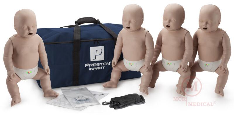 4-Pack Prestan INFANT CPR Manikins w Feedback MedTone PP-IM-400M-MS mannequins