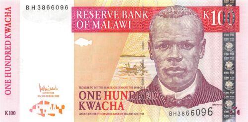 Malawi  100  Kwacha  31.10.2005  Series  B H  Uncirculated Banknote LBC