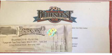 2X Byron Bay Bluesfest 5 day tickets, $700