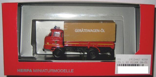 Herpa 091046 IFA L 60 2-achs Pritsche-/Planen LKW Feuerwehr Neustadt Coburg 1:87
