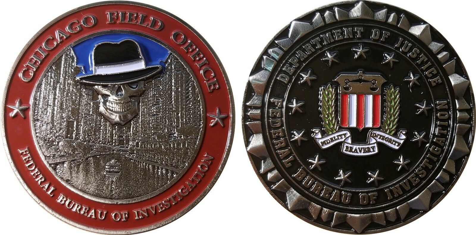 Chicago Field Office FBI challenge coin 2