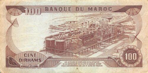 Morocco  100  Dirhams  1985  P 59b  Series DC/46  Circulated Banknote FL0917T1