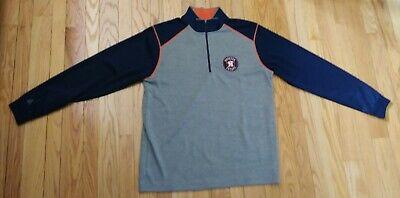 Houston Astros 1/4 Zip Pullover Shirt / Jacket  by Antigua Men