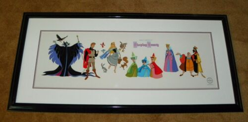 DISNEY SLEEPING BEAUTY Cast of Characters, FRAMED, Sericel / Cel LE 5000