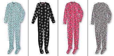 NEW Womens Pajamas Size XL Plus 1X - 2X Onesie One Piece Union Suit Feet Zipper (Plus Size Onesie)