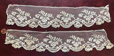 Handmade Brussels bobbin lace applique edging lengths SEW CRAFT COSTUME