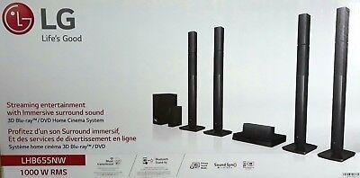 LG LHB655NW 5.1 Heimkinosystem, 1000W, Multiroom, Hi-Res,Bluetooth (B5446-3-RG) Multi-system Dvd