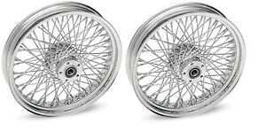 CHROME-80-SPOKE-WHEELS-HARLEY-16x3-5-TOURING-FLHT-FLHR-FLHX-FLTR