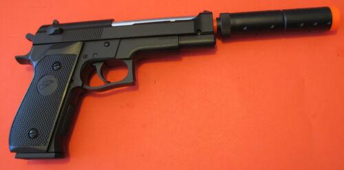 High Performance Airsoft Spring Pistol M92 Metal Barrel, Barrel Extension