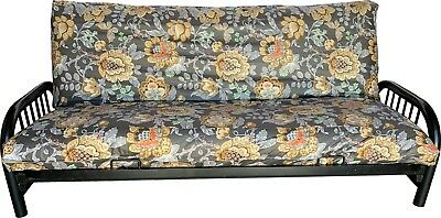 Full Size Futon Mattress Cover, Bed Protector Covers 100% Cotton Flower Deco #22 ()
