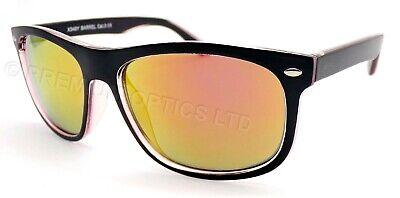 BLOC Gafas de Sol Barrel Negro Mate Sobre Cristal/Espejo Rojo Lentes X346